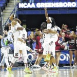 South Carolina holds off North Carolina, advance to Elite 8