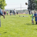 Penn State players share football basics with Pittston Area youth