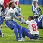 Hamstring keeps Beckham Jr. out at Giants minicamp