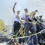Warriors celebrate NBA champion with fans