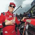 Kyle Busch rolls into Pocono Raceway