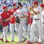 Phillies' Hamels tosses no-hitter against Cubs