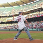 Stephen Bilko throws out first pitch of Angels game on honorary weekend for his father