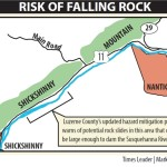 Rock block slides along Route 11 should be monitored, new hazard plan says