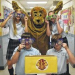 Wyoming Area Catholic School collecting eye glasses for the Pittston Area Leo's Club