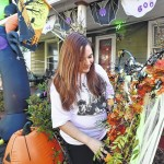 Large Halloween display on Division Street is an eye-grabber