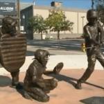 Vandals break off bronze bat from Little League monument