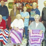 Crocheted items donated to Fern Wood Manor