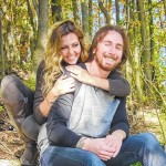 Eric Reichart and Alexandria Briggs engagement