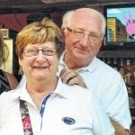 Happy anniversary to Rita and Bob Peters