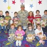 Cookie Corner children honor Veterans