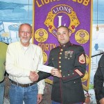 Forty Fort Lyons make a donation to Marines