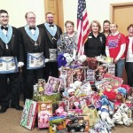 Collection form a toy drive will be presented to Marines