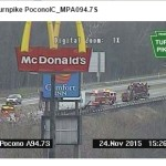 Tractor trailer fire causing major backup on Turnpike near I-80
