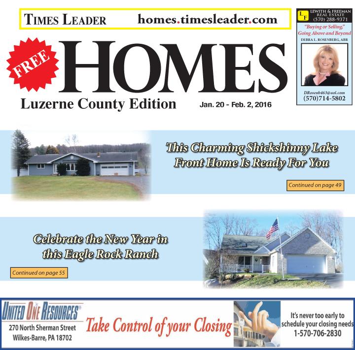 Luzurne County Homes Jan 20- Feb 2