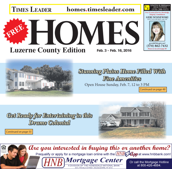 Luzerne Homes Feb 3-16, 2016