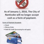 Nanticoke's cashless policy now in effect
