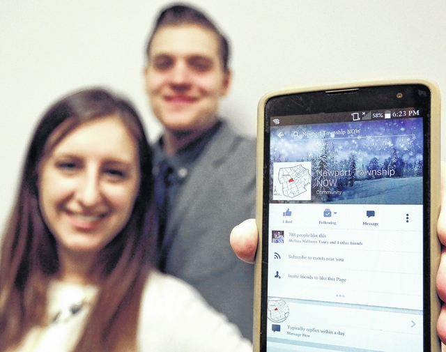 young couple creates �newport township now� facebook page