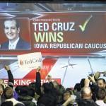 Cruz tops Trump in Iowa caucuses; Clinton, Sanders in tight Dem race