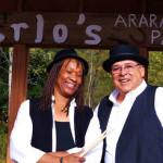 Soul Shakers backing vested blues performers at Blues Guitarmageddon at Scranton Cultural Center