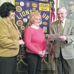 The Exeter Lions Club installed Mickey Briggs as a new member