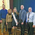 Abigail White, Miss Outstanding Teen Wilkes-Barre/Scranton, visits Wyoming Valley West Middle School