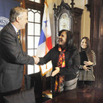 From Panama to Wyoming Valley: Central American minister signs deal with Wilkes