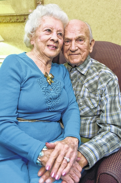 Wedding bells ring at Heritage Hill Senior Community Center for residents Betty Lamb and George Bolinsky