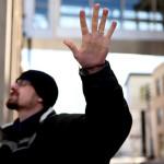 Hazleton prayer walk participants pray for a city divided
