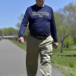 Avid walker Mike Mulvey, 76, of Mountain Top hits Mile No. 25,000