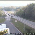Scattered areas of traffic congestion reported this morning