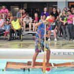 Meyers High School students propel science in cardboard boat regatta