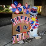 Patriotic-themed holiday snowman appears at intersection in Kingston