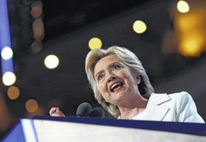 Clinton promises steady hand