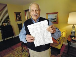 Pa. man cherishes 1952 Paterno recruiting letter