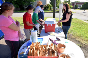 Graham Academy students add produce stand to garden curriculum
