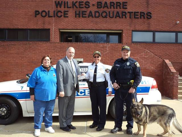 Motorworld donates 15 000 to wilkes barre police for Motor world wilkes barre