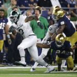 No. 12 Spartans hold on for 36-28 win over No. 18 Irish
