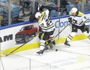 Steve Oleksy doesn't hold back at Pittsburgh Penguins training camp