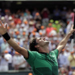 Federer turns back to clock to sweep Nadal and win Key Biscayne