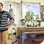 Young artist's patriotic mural brightens atmosphere at personal care home