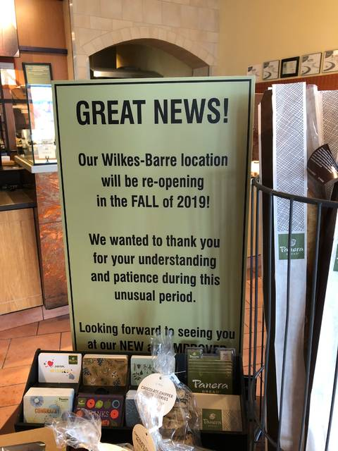 Panera Bread: Wilkes-Barre Twp  store to re-open in fall | Times Leader
